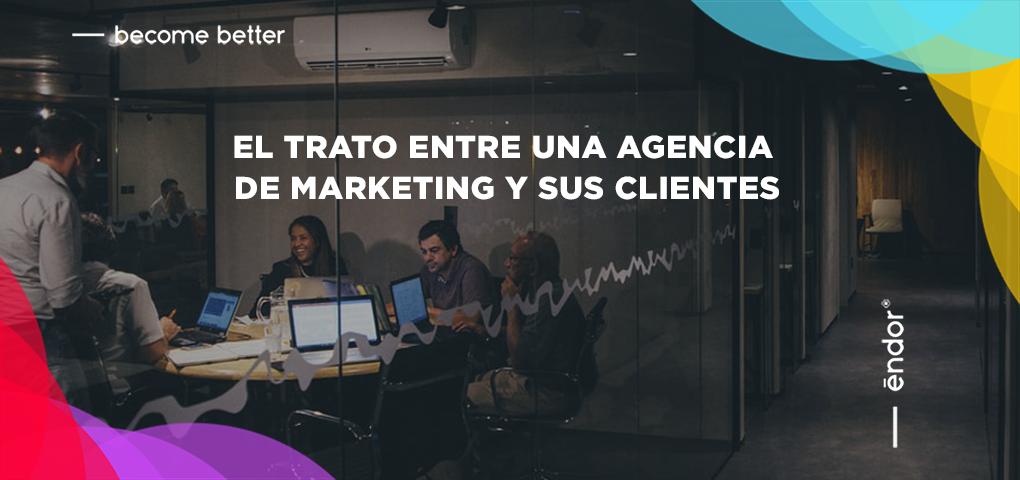Agencia de marketing y sus clientes